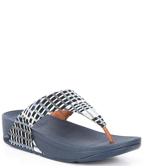 フィットフロップ レディース サンダル シューズ Lulu Wedge Flip Flop Sandals Blue