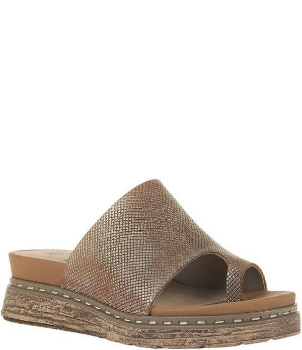 オーティービーティー レディース サンダル シューズ Oversky Metallic Leather Hooded Toe Thong Sandals Gold