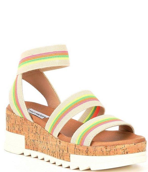 スティーブ マデン レディース サンダル シューズ Bandi Elastic Stripe Cork Flatform Sandals Bright/Multi