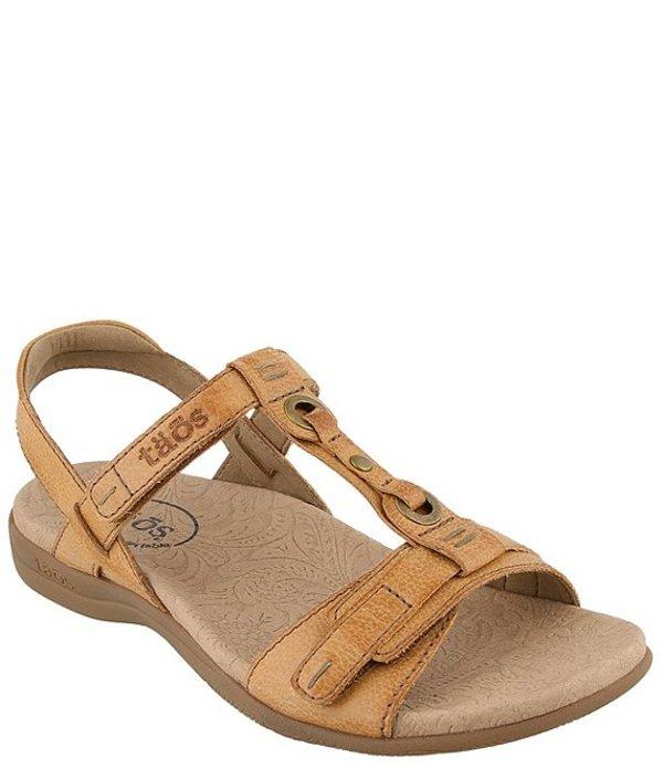 タオスフットウェア レディース サンダル シューズ Swifty Leather Adjustable Sandals Honey