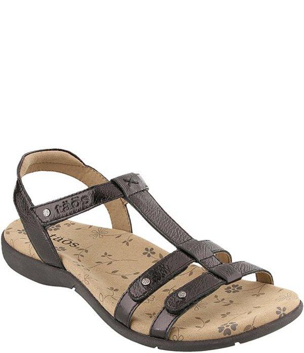 タオスフットウェア レディース サンダル シューズ Trophy 2 Patent Leather Sandals Black Patent
