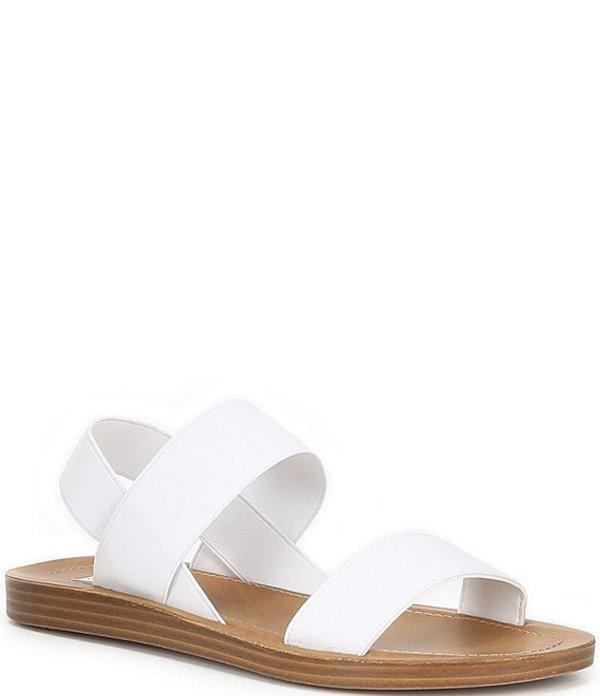 スティーブ マデン レディース サンダル シューズ Roma Elastic Band Sandals White