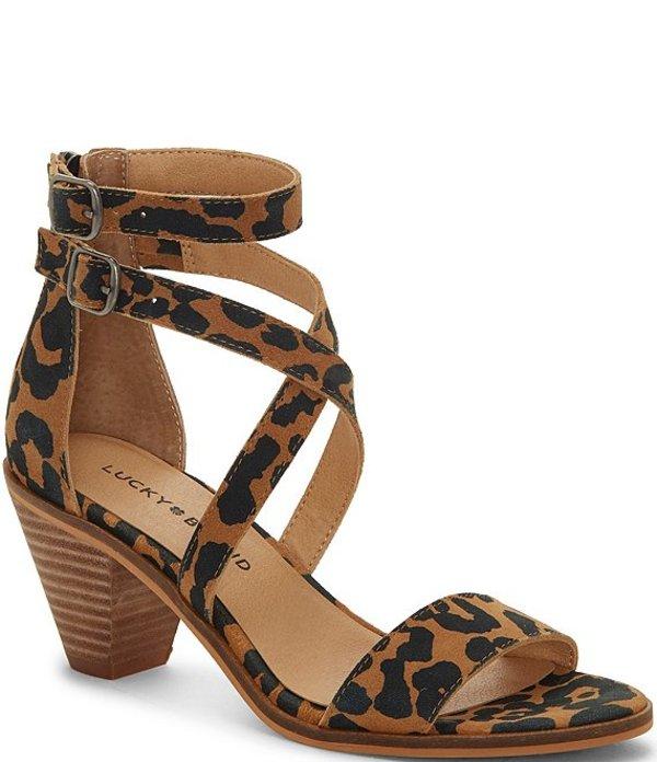 ラッキーブランド レディース サンダル シューズ Ressia Leopard Print Leather Dress Sandals Natural Leopard