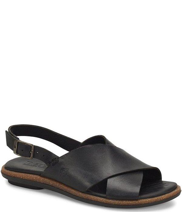 ボーン レディース サンダル シューズ Chisana Leather Sling Sandals Black