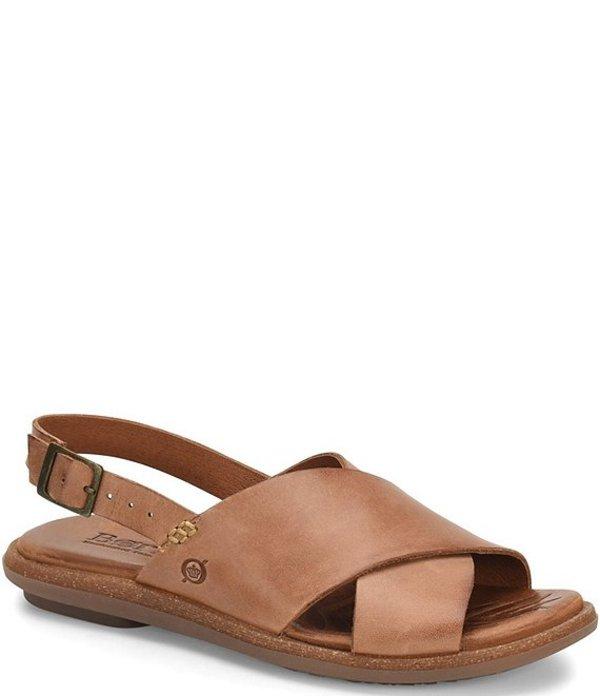 ボーン レディース サンダル シューズ Chisana Leather Sling Sandals Saddle