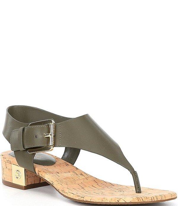 マイケルコース レディース サンダル シューズ MICHAEL Michael Kors London Leather Thong Sandals Olive