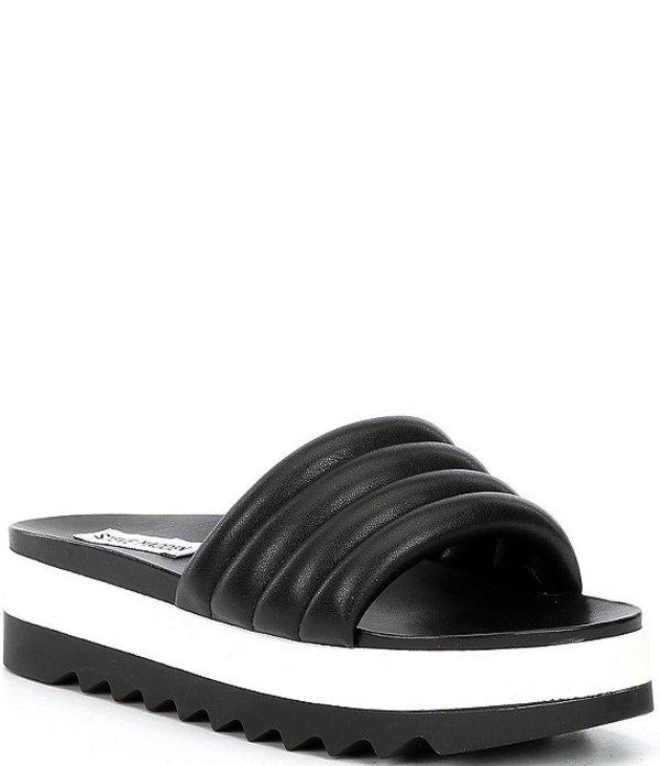 スティーブ マデン レディース サンダル シューズ Lazaro Platform Sandals Black