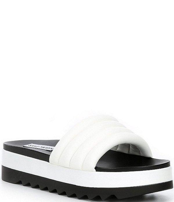 スティーブ マデン レディース サンダル シューズ Lazaro Platform Sandals White