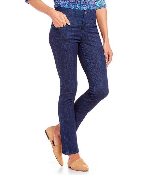 イントロ レディース デニムパンツ ボトムス Petite Size Waist Away High Rise Tummy Control Straight Leg Jeans Freedom Dark Wash