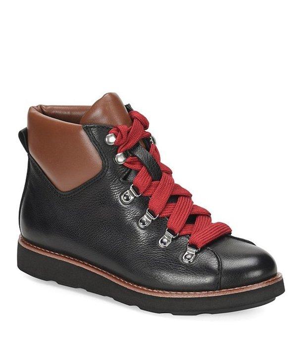 ビオニカ レディース サンダル シューズ Natick Leather Hiking Booties Black/Brown
