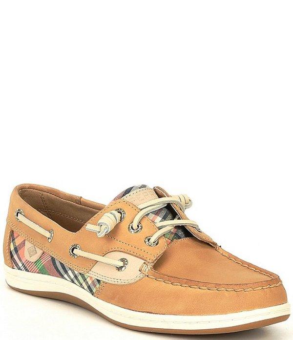 スペリー レディース デッキシューズ シューズ Women's Songfish Kick Back Plaid Boat Shoes Tan/Kick Back Plaid