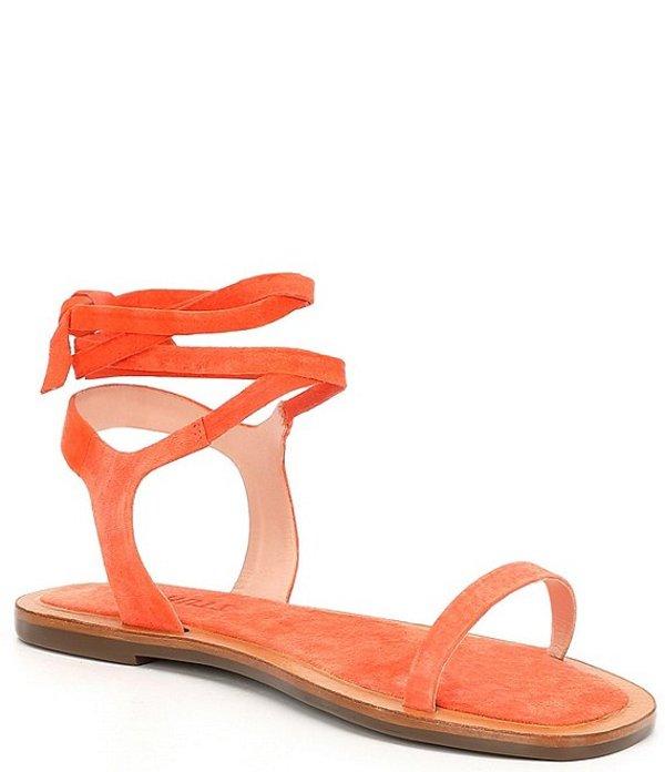 シュッツ レディース サンダル シューズ Savi Suede Ankle Wrap Sandals Flame Orange