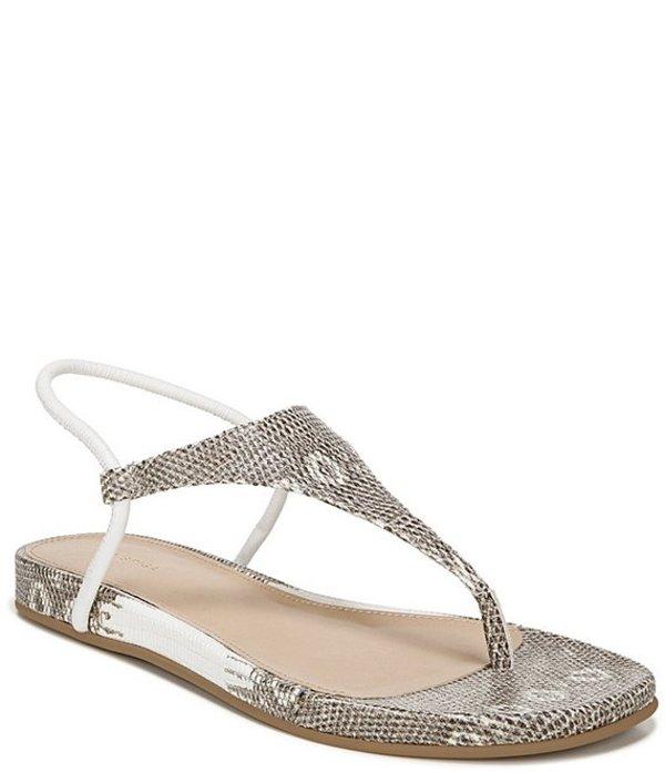ヴィアスピガ レディース サンダル シューズ Pixey Lizard Print Leather Sling Thong Sandals Blanc
