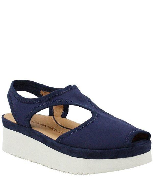 ラモールドピード レディース サンダル シューズ L'amour Des Pieds Amichai Stretch Flatform Sandals Navy Spandex