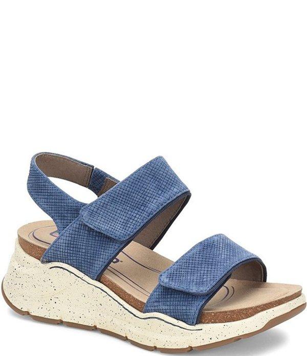 ビオニカ レディース サンダル シューズ Olivette Embossed Suede Sandals Blue Suede