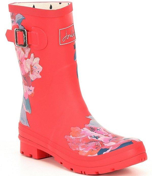 ジュールズ レディース ブーツ・レインブーツ シューズ Molly Welly Mid Daisy Printed Rain Boots Red Floral