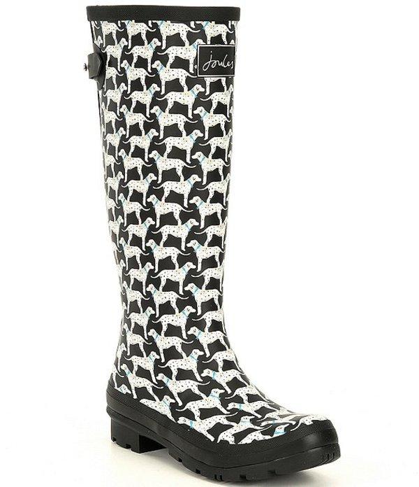 ジュールズ レディース ブーツ・レインブーツ シューズ Welly Printed Mid-Calf Rain Boots Black Almatin
