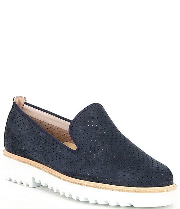 ポール・グリーン レディース スリッポン・ローファー シューズ Cailey Perforated Leather Loafers Navy