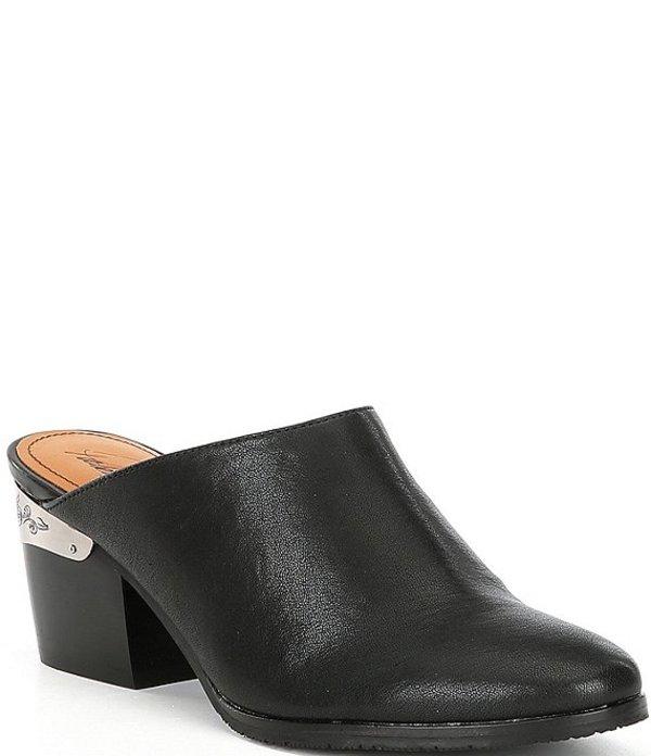 パトリシアナシュ レディース サンダル シューズ Michela Leather Block Heel Mules Black