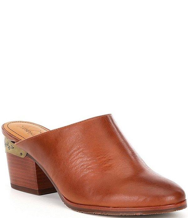 パトリシアナシュ レディース サンダル シューズ Michela Leather Block Heel Mules Tan