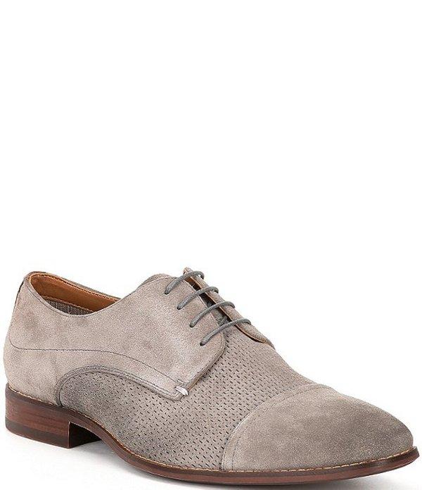 スティーブ マデン メンズ ドレスシューズ シューズ Men's Desmond Leather Cap Toe Oxfords Grey