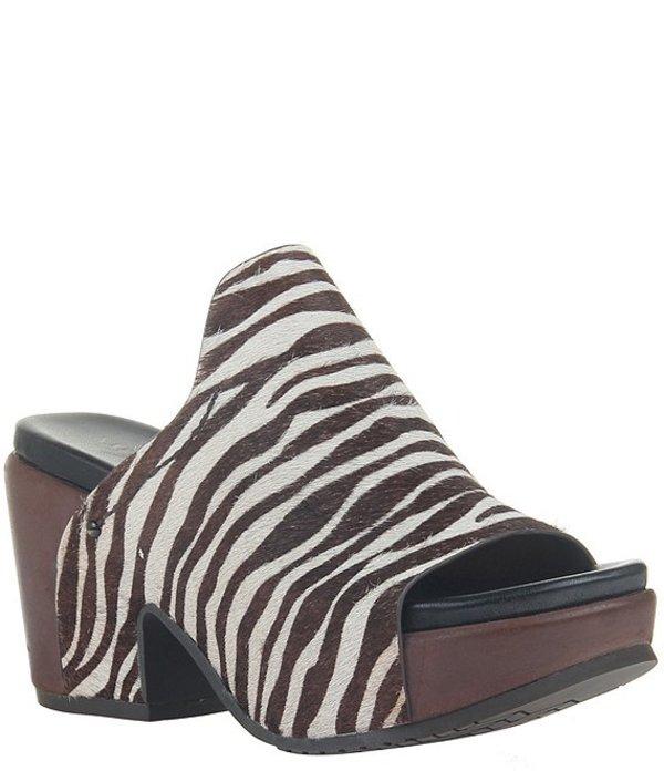 ネイキッドフィート レディース サンダル シューズ Corinth 2 Zebra Print Haircalf Platform Block Heel Slides Zebra Print