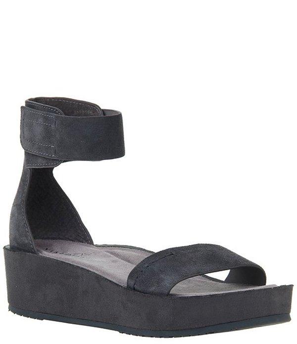 ネイキッドフィート レディース サンダル シューズ Renzi Suede Ankle Strap Platform Sandals Soft Grey