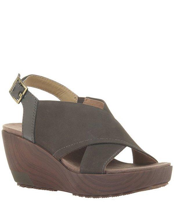 オーティービーティー レディース サンダル シューズ Forever Yvonne Suede and Leather Platform Wedge Sandals Mint