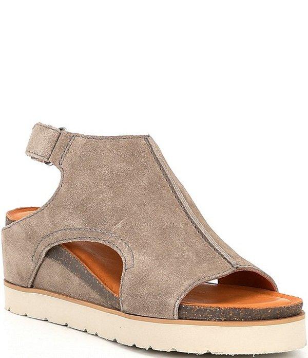 ディバトゥルー レディース サンダル シューズ Get Along Suede Cut Out Wedge Sandals Taupe