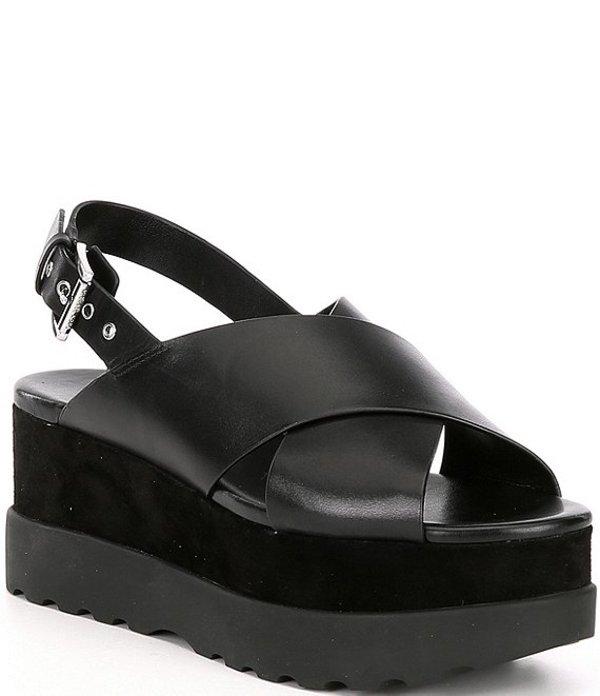 マイケルコース レディース サンダル シューズ MICHAEL Michael Kors Becker Leather Wedge Sandals Black