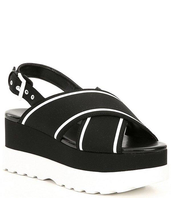 マイケルコース レディース サンダル シューズ MICHAEL Michael Kors Becker Colorblock Wedge Sandals Black/Optic White