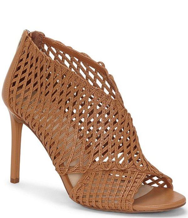ヴィンスカムート レディース サンダル シューズ Armenta Woven Leather Sandals Warm Brick