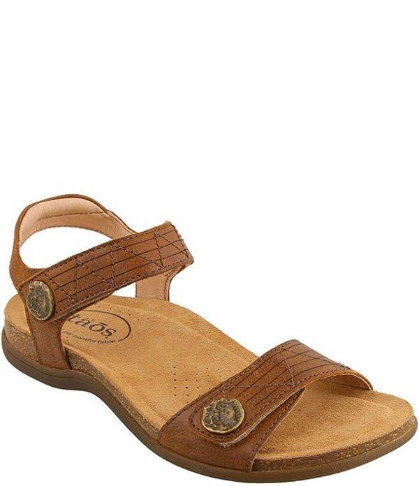 タオスフットウェア レディース サンダル シューズ Pioneer Banded Leather Sandals Tan