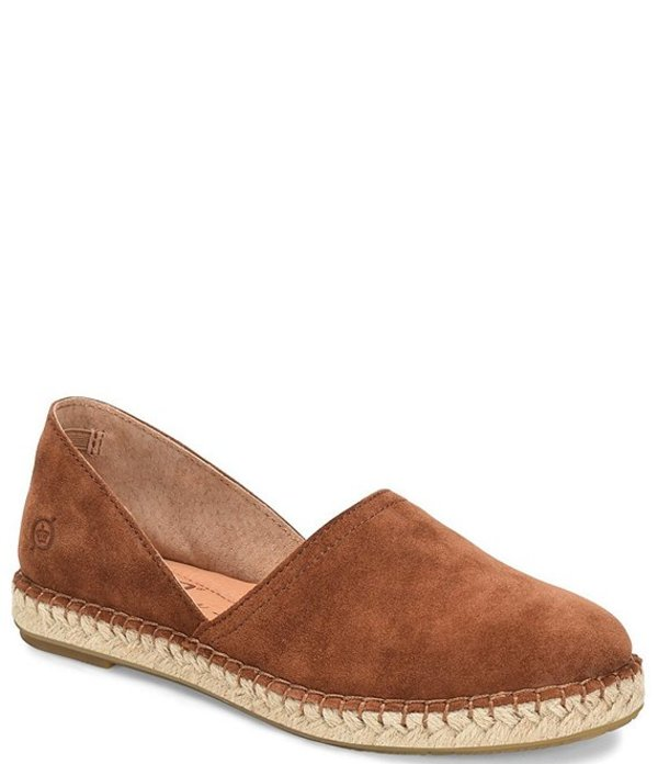 ボーン レディース サンダル シューズ Stitch Suede Slip On Espadrilles Flats Tobacco Rust