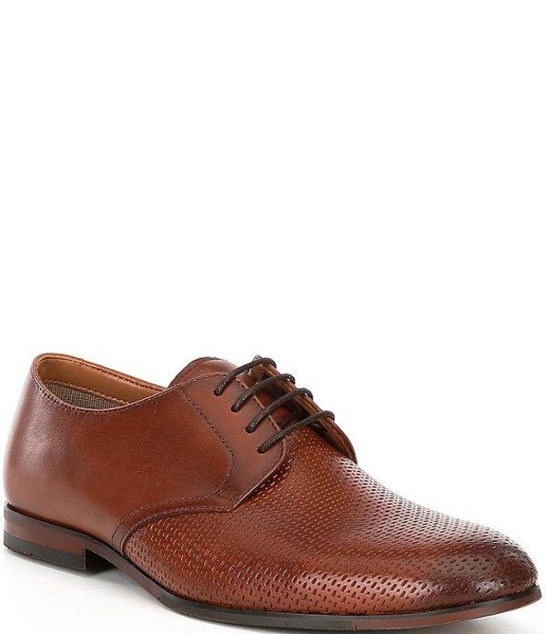 スティーブ マデン メンズ ドレスシューズ シューズ Men's Elixer Perforated Leather Oxfords Cotgnac