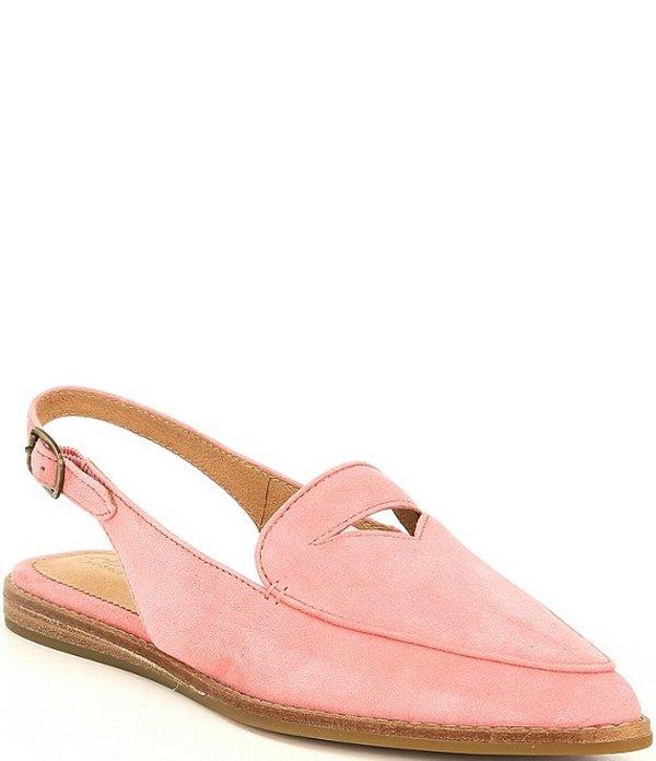 スペリー レディース スリッポン・ローファー シューズ Saybrook Pointed Toe Slingback Suede Flats Coral Pink