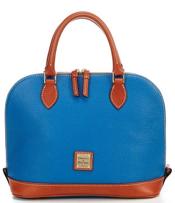 ドーネイアンドバーク レディース ハンドバッグ バッグ Pebble Collection Zip Zip Dome Satchel Bag Persian Blue
