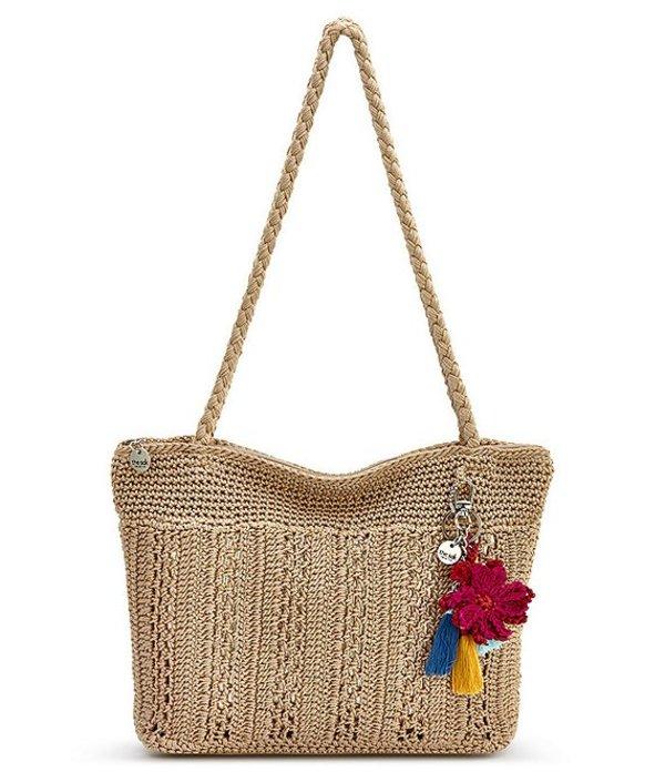 ザサック レディース ショルダーバッグ バッグ Collective Classic Crochet Tassel Colorblock Shopper Bag Bamboo/Gold