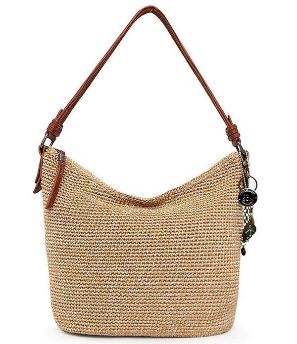 ザサック レディース ショルダーバッグ バッグ Collective Sequoia Crochet Hobo Bag Bamboo Static
