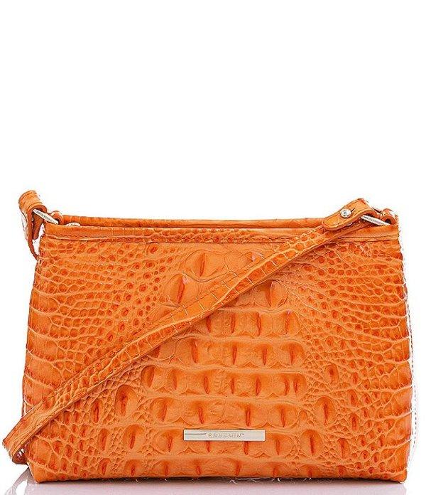 ブランミン レディース ショルダーバッグ バッグ Melbourne Collection Lorelei Crocodile-Embossed Shoulder Bag Marmalade