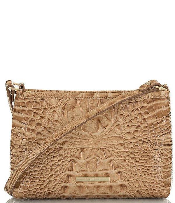 ブランミン レディース ショルダーバッグ バッグ Melbourne Collection Lorelei Crocodile-Embossed Shoulder Bag Shortbread