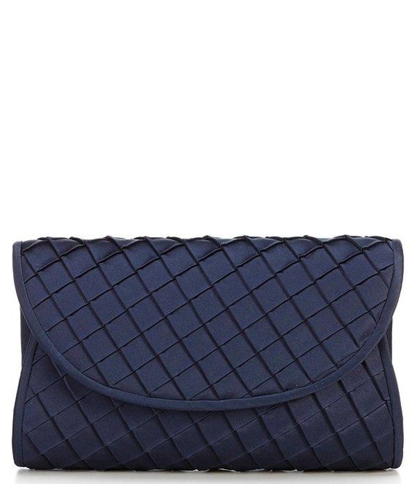 ケイトランドリー レディース ショルダーバッグ バッグ Satin Square Quilt Clutch Shoulder Bag Navy