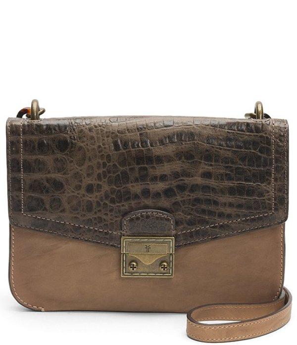 フライ レディース ショルダーバッグ バッグ Ella Crocodile-Embossed Crossbody Bag Beige Multi