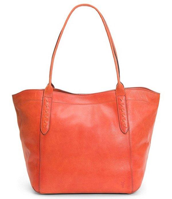 フライ レディース ショルダーバッグ バッグ Reed Shoulder Leather Bridle Riding Stitch Tote Bag Burnt Orange