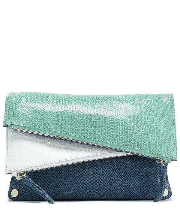 ハミット レディース ショルダーバッグ バッグ Dillon 6-Way Flap Medium Leather Crossbody Bag Indigo