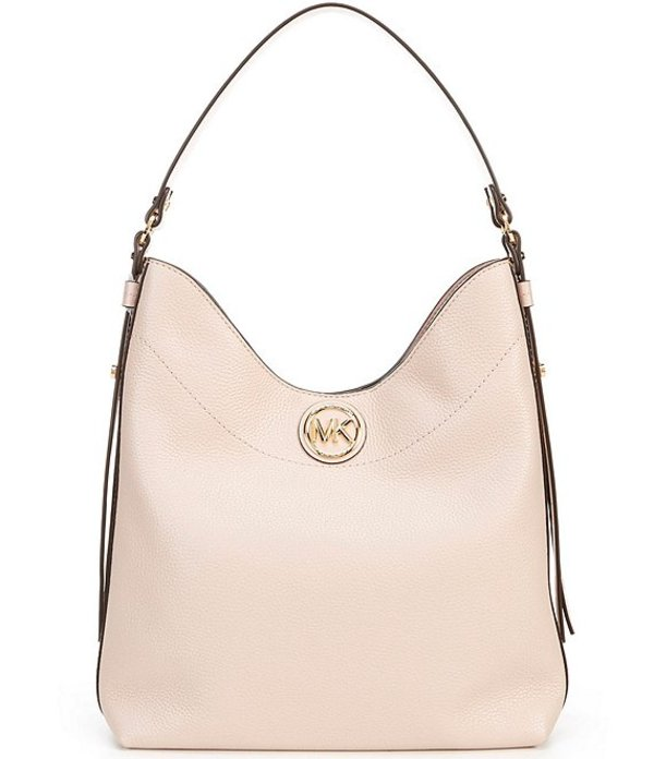 マイケルコース レディース ハンドバッグ バッグ Michael Michael Kors Bowery Large Leather Hobo Shoulder Bag Soft Pink