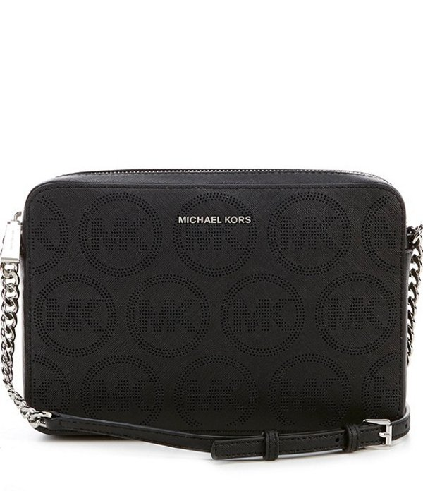 マイケルコース レディース ハンドバッグ バッグ MICHAEL Michael Kors Jet Set Large East West Crossbody Bag Black