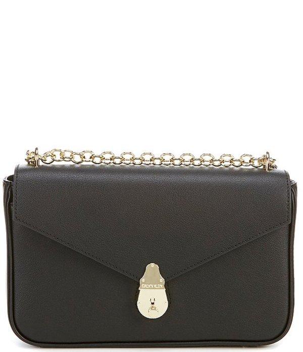 カルバンクライン レディース ショルダーバッグ バッグ Lock Flap Shoulder Bag Black/Gold