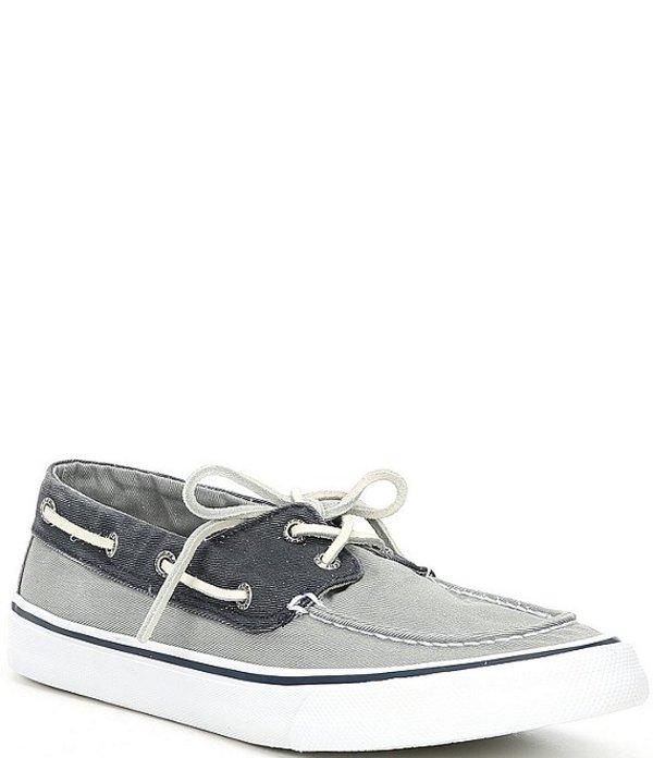 スペリー メンズ ドレスシューズ シューズ Men's Bahama II Canvas Sneakers Salt Washed Grey/Navy