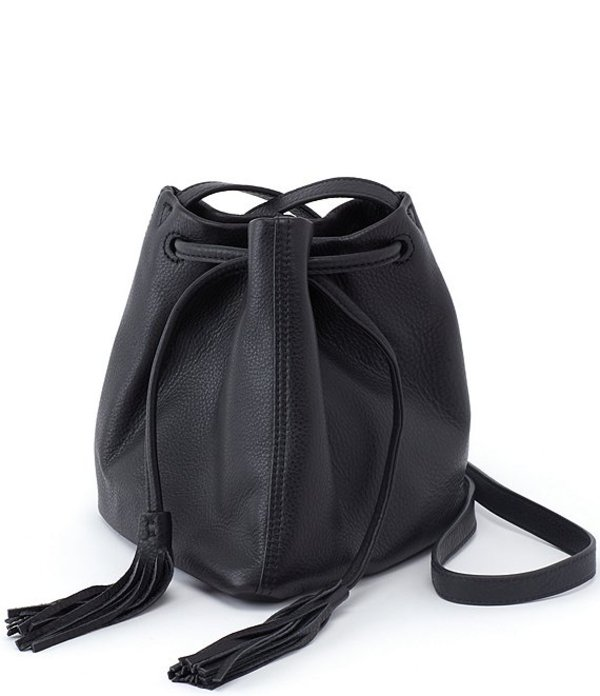 ホボ レディース ショルダーバッグ バッグ Sander Leather Drawstring Crossbody Bag Black